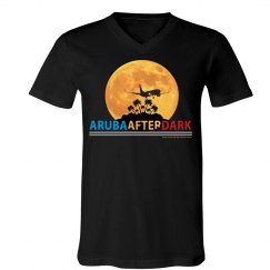Aruba After Dark Excl By KAD | Mens V-Neck Jersey Tee