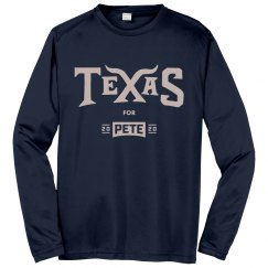 Texas for Pete - Navy - Long Sleeve/Sport-Tek