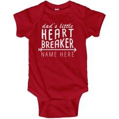 Daddy's Heartbreaker Onesie