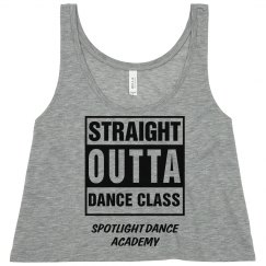 Straight Outta Dance Crop Top-Adult
