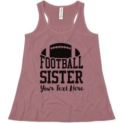 Personalized Football Sister Fan