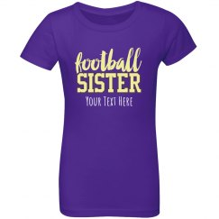 Football Sister Custom Text Tee