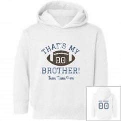 Custom Number Football Sister Hoodie