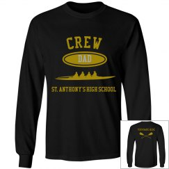 DAD PERSONALIZED LONG SLEEVE TEE NAME ON BACK