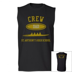 DAD PERSONALIZED SLEEVELESS TEE NAME ON BACK