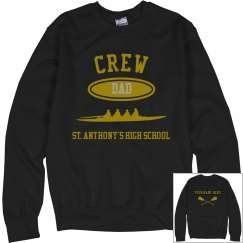 DAD PERSONALIZED CREW NECK SWEATSHIRT NAME ON BACK