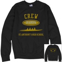 GRANDPA CREW NECK SWEATSHIRT PERSONALIZED NAME ON BACK