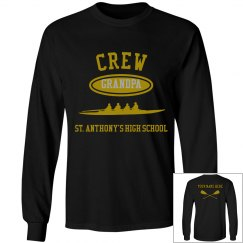 GRANDPA LONG SLEEVE TEE PERSONALIZED WITH NAME ON BACK