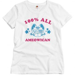 Cute I'm 100% All Ameowican