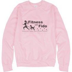 Pink Sweatshirt - Black Logo