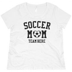 Custom Team Soccer Mom Plus Tee