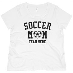 Custom Team Soccer Mom Plus Tee
