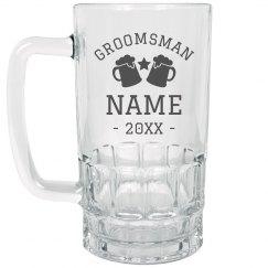 Custom Groomsman Gift Stein