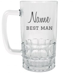 Custom Best Man Gift Beer Mug