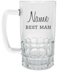 Custom Best Man Gift Beer Mug