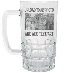 Custom Photo & Text Beer Mug Gift