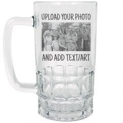 Custom Photo & Text Beer Mug Gift