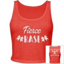 Custom Name Fierce Base Cheerleader