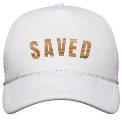 Christian SAVED Gold Metallic Text