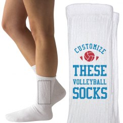 Custom Text Volleyball Socks