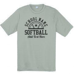 Youth Softball Star Custom Text Tee