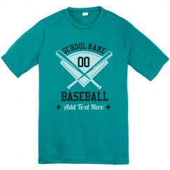 School Name And Number Custom Baseball Performance