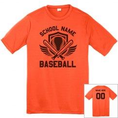 Baseball With Wings Custom School Shirt