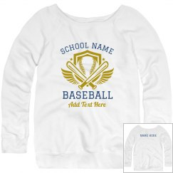 Baseball Mom Custom Text Sweater