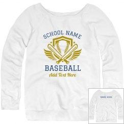 Baseball Mom Custom Text Sweater
