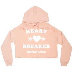 Heart Breaker Since Custom Crop Sweatshirt
