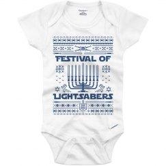 Hanukkah Lightsabers Baby