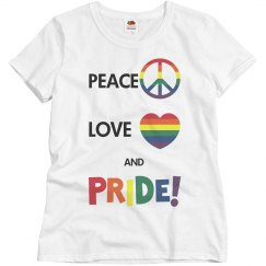 PEACE LOVE AND PRIDE TEE