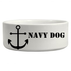 navy dog bowl
