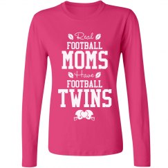 Real Football Mom With Twins Tee