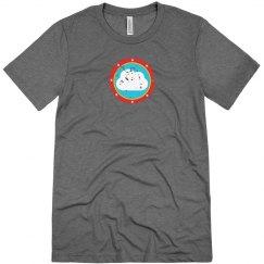 Cloud Bullseye Tee Grey