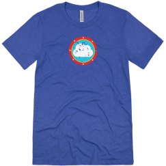Cloud Bullseye Tee Blue