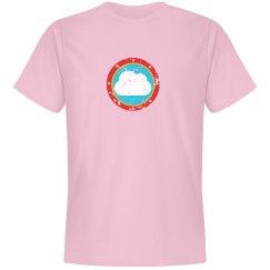 Cloud Bullseye Tee Pink