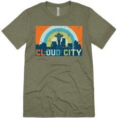 Cloud City Tee Green