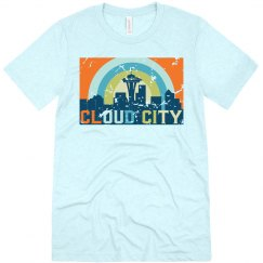 Cloud City Tee Blue