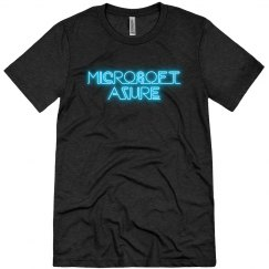 Microsoft Azure Blue Neon Tee Black