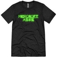 Microsoft Azure Green Neon Tee Black