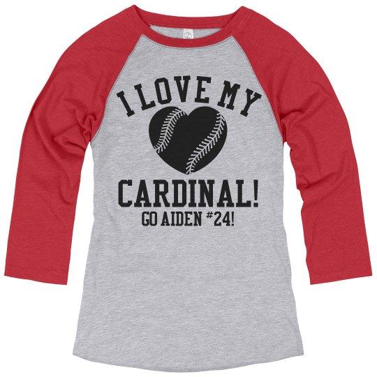f84d9bc1 Custom Baseball Mom Shirts Ladies Relaxed Fit 3/4 Sleeve Raglan T-Shirt