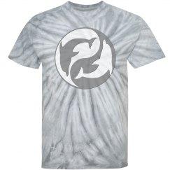 Grey Yin Yang Dolphins