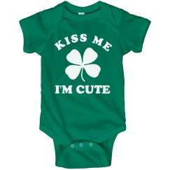 Kiss Me I'm Cute Irish Baby