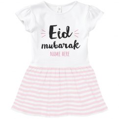 Toddler Ruffle Eid Mubarak Dress