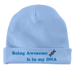 Being Awesome Baby Hat - Blue