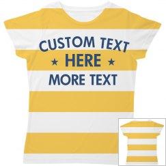 Cute Custom Stripes All Over Print