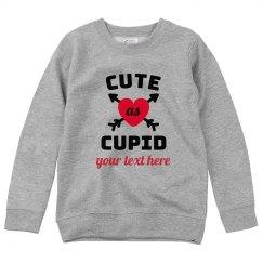 Cute As Cupid Custom Youth Sweater