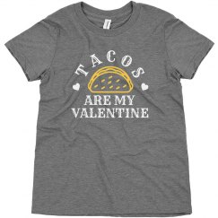 Tacos Are My Valentine Youth Top