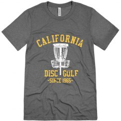 Custom Retro Disc Golf Distressed